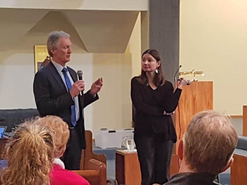 Peter Devoy and Rebecca Miller at Lower Hutt.
